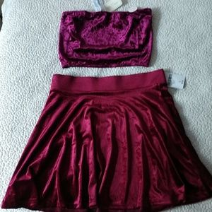 Blood Red Velvet Outfit